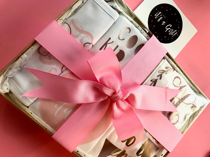 5-Piece Newborn Gift Set - Rose Gold, Gift Set - itsmypartykids