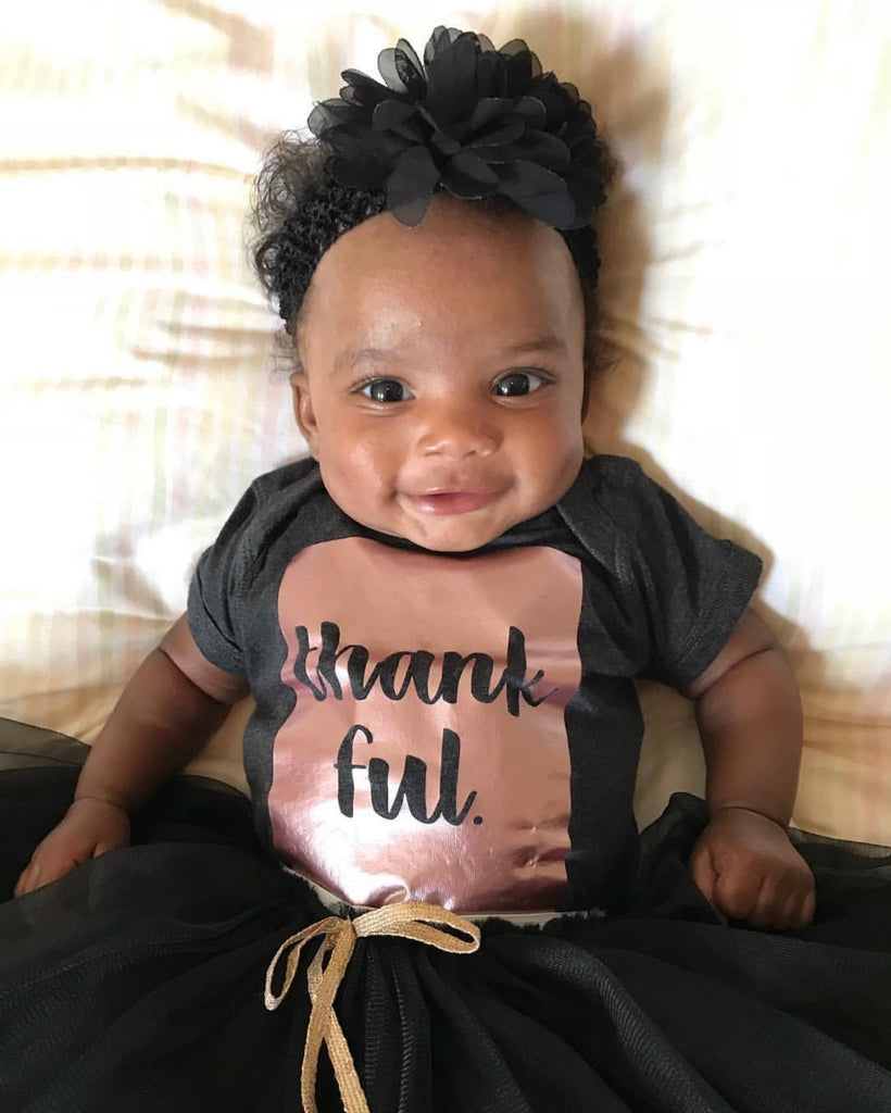 Thankful Rose Gold Shimmer Onesie or T-Shirt