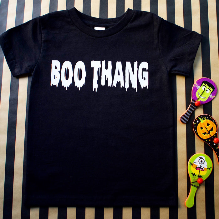 """Boo Thang"" Onesie or TSHIRT - Black, TEES - itsmypartykids"