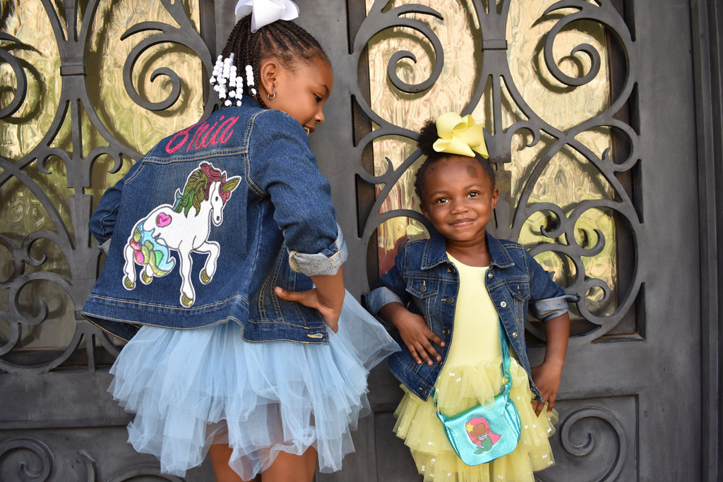 Personalized-glitter-french-fry-sequin-name-customized-indigo-toddler-denim-jacket-5-It's My Party Kids Boutique