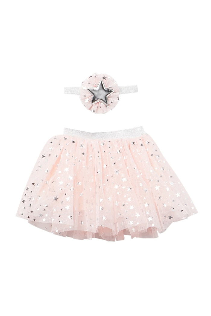 Pink and Metallic Silver Tutu and Headband Set, Tutu - itsmypartykids