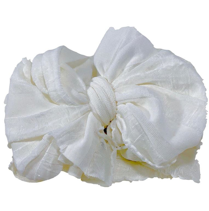 Ruffle Stretch Headband - Off White, HEADBAND - itsmypartykids