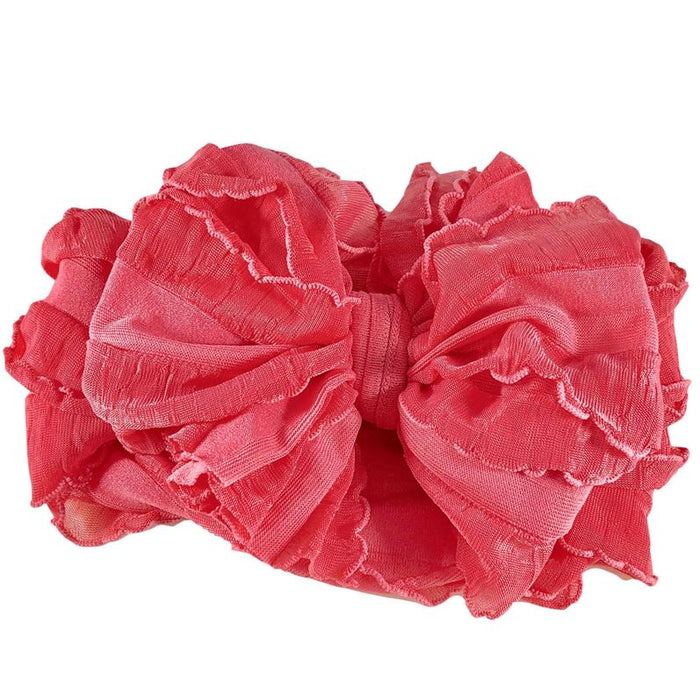 Ruffle Stretch Headband - Pink Grapefruit, HEADBAND - itsmypartykids