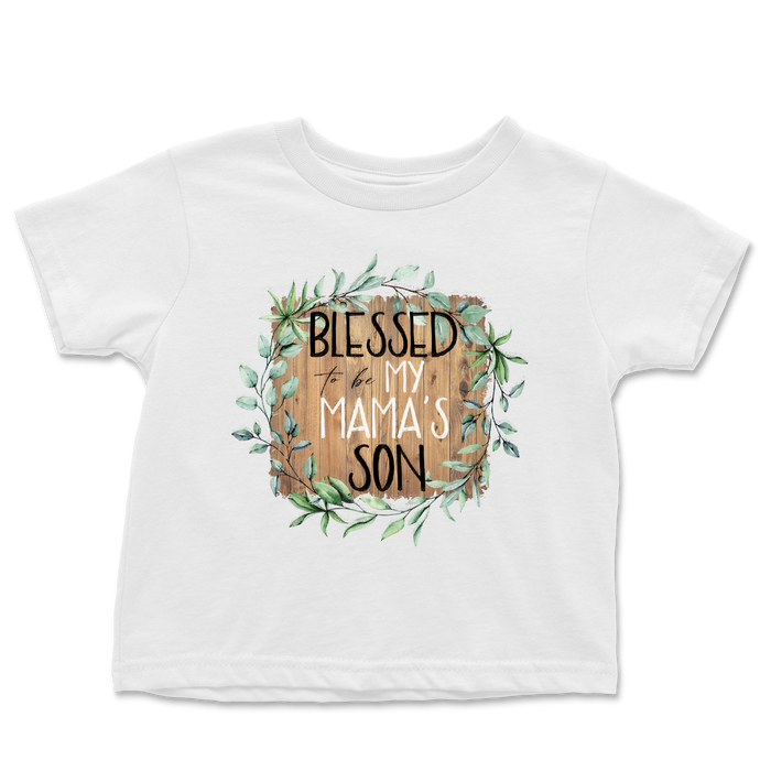 blessed-to-be-my-mamas-son-mommy-and-me-mothers-day-baby-onesie-or-kids-tee-shirt-it's my party kids boutique