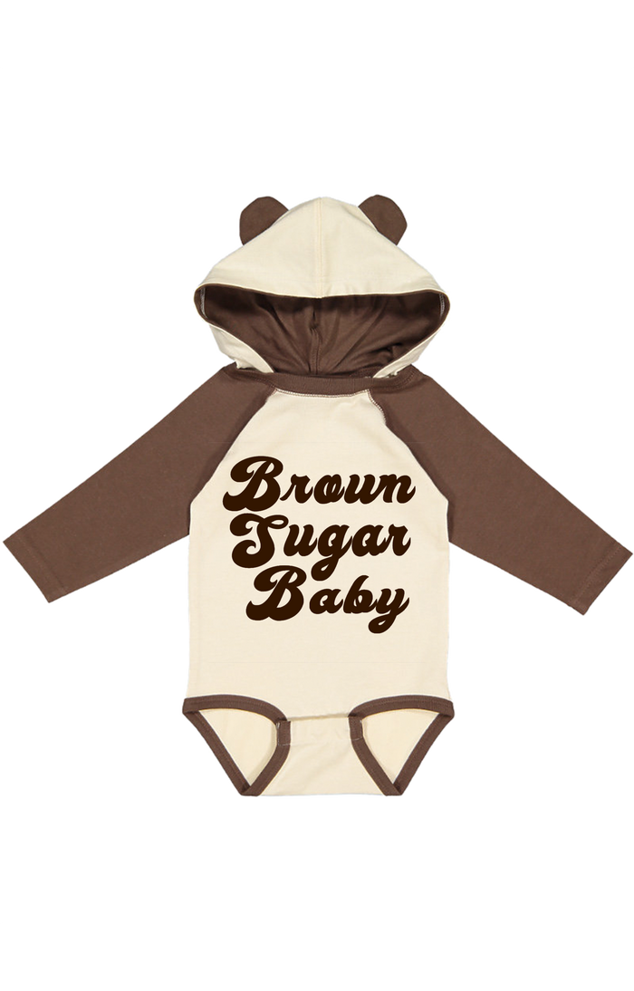 brown-sugar-baby-long-sleeve-bear-ear-hoodie-baby-onesie-It's My Party Kids Boutique