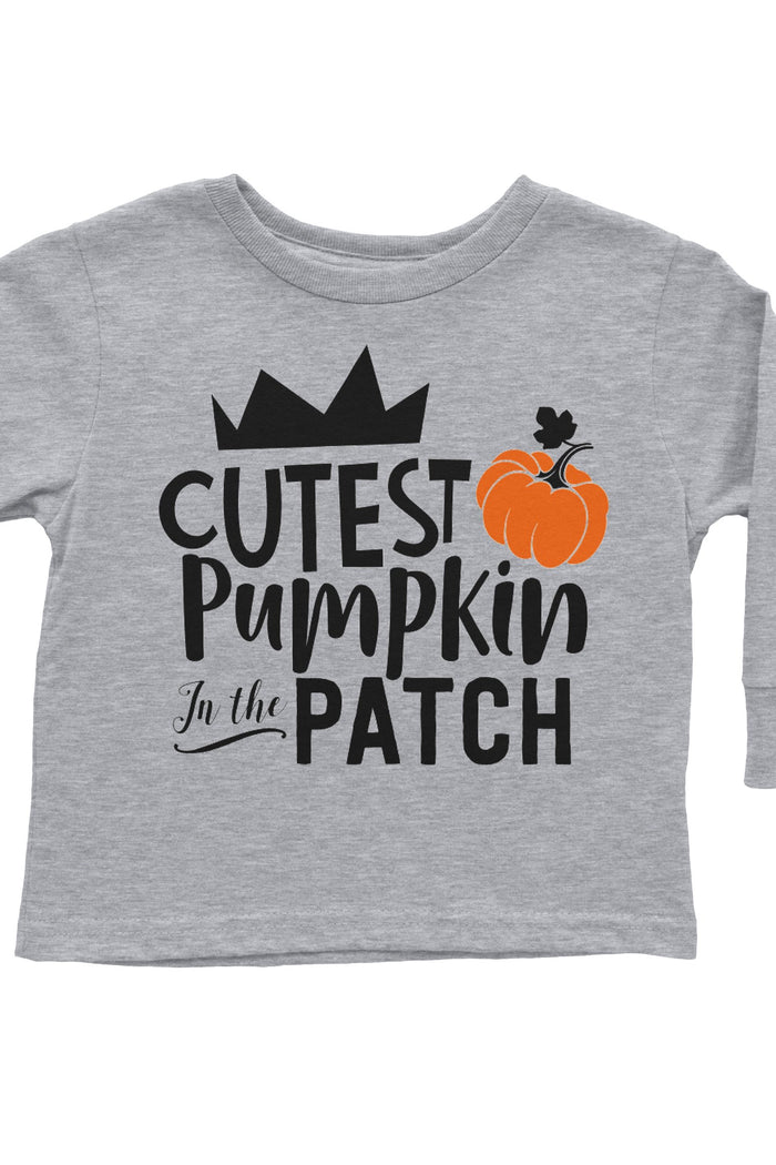 Cutest-Pumpkin-in-the-patch-long-sleeve-toddler-tee-shirt-pumpkin-thanksgiving-harvest-It's My Party Kids Boutique