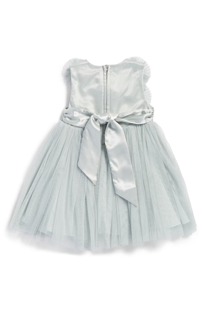 Dusty Mint Embellished Tulle Dress, Onesie - itsmypartykids