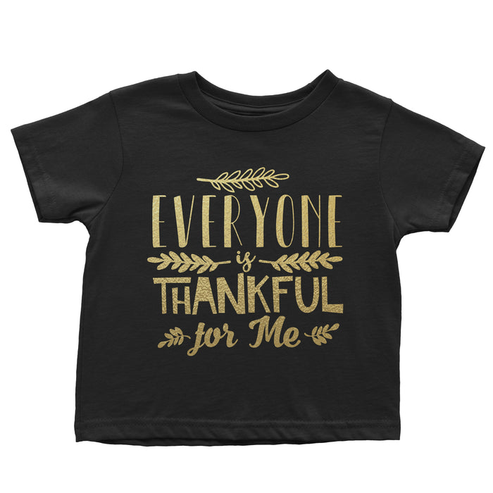 everyone-is-thankful-for-me-kids-thanksgiving-tee-shirt-black-metallic-gold-It's My party Kids Boutique