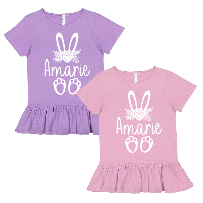 floral-crown-easter-bunny-rabbit-ears-personalized-ruffle-tee-shirt-it's my party kids boutique