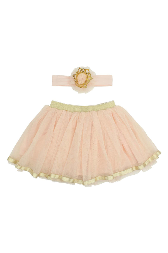 Princess Blush Tutu Skirt and Crown Headband Set, Tutu - itsmypartykids