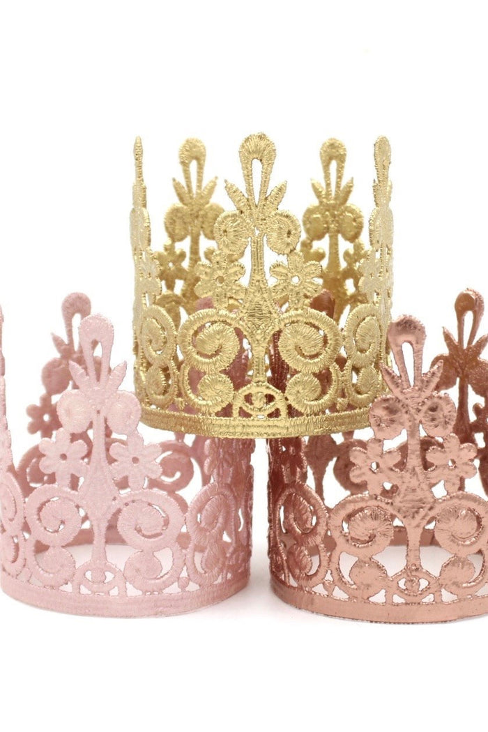 Blush Mini Lace Crown, CROWNS - itsmypartykids