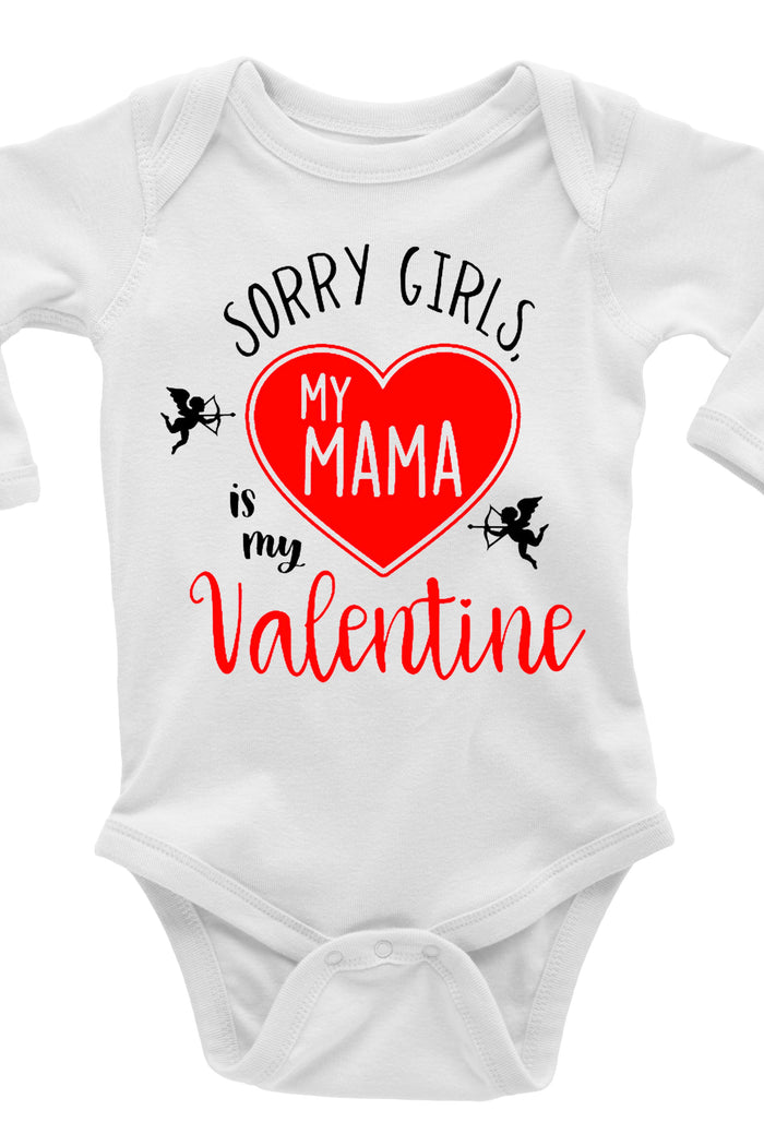 sorry-girls-my-mama-is-my-valentine-cupid-baby-onesie-It's My party Kids Boutique