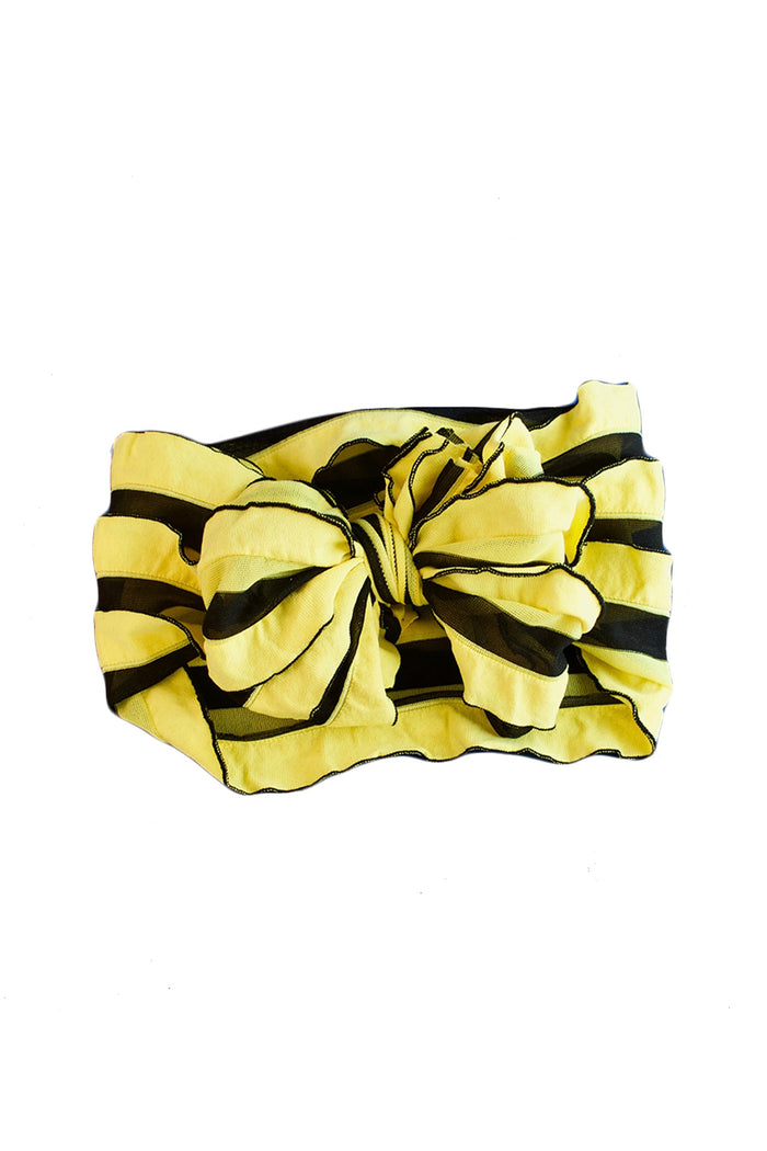 YELLOW AND BLACK STRIPE STRETCH HEADBAND, HEADBAND - itsmypartykids
