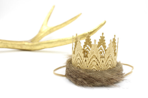 Mini Faux Fur Crown, CROWNS - itsmypartykids