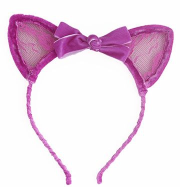 MIA CAT EAR HEADBAND - FUSCHIA, HEADBAND - itsmypartykids