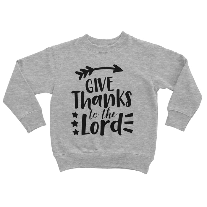 give-thanks-to-the-lord-kids-thanksgiving-tee-shirt-sweatshirt-It's My Party Kids Boutique