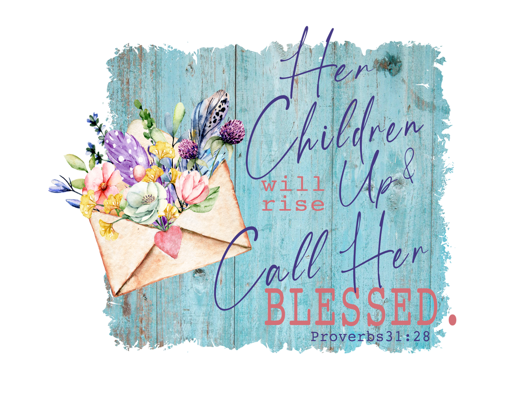 her-children-will-rise-up-and-call-her-blessed-mothers-day-tee-shirt-it's my party kids boutique