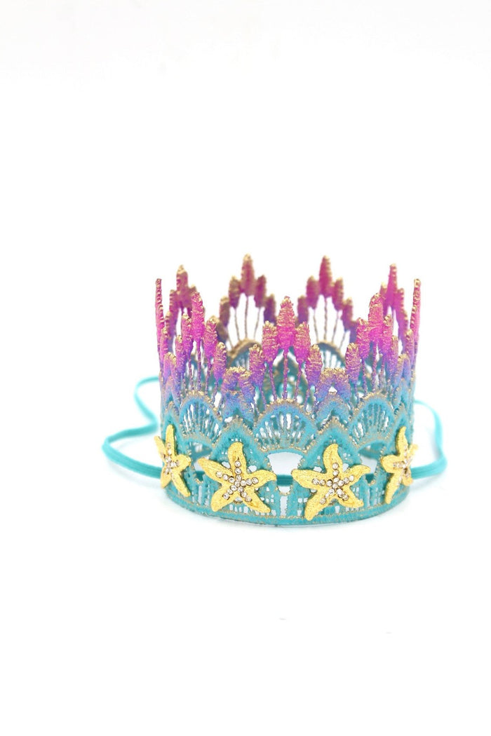 OMBRE MERMAID STARFISH CROWN, CROWNS - itsmypartykids