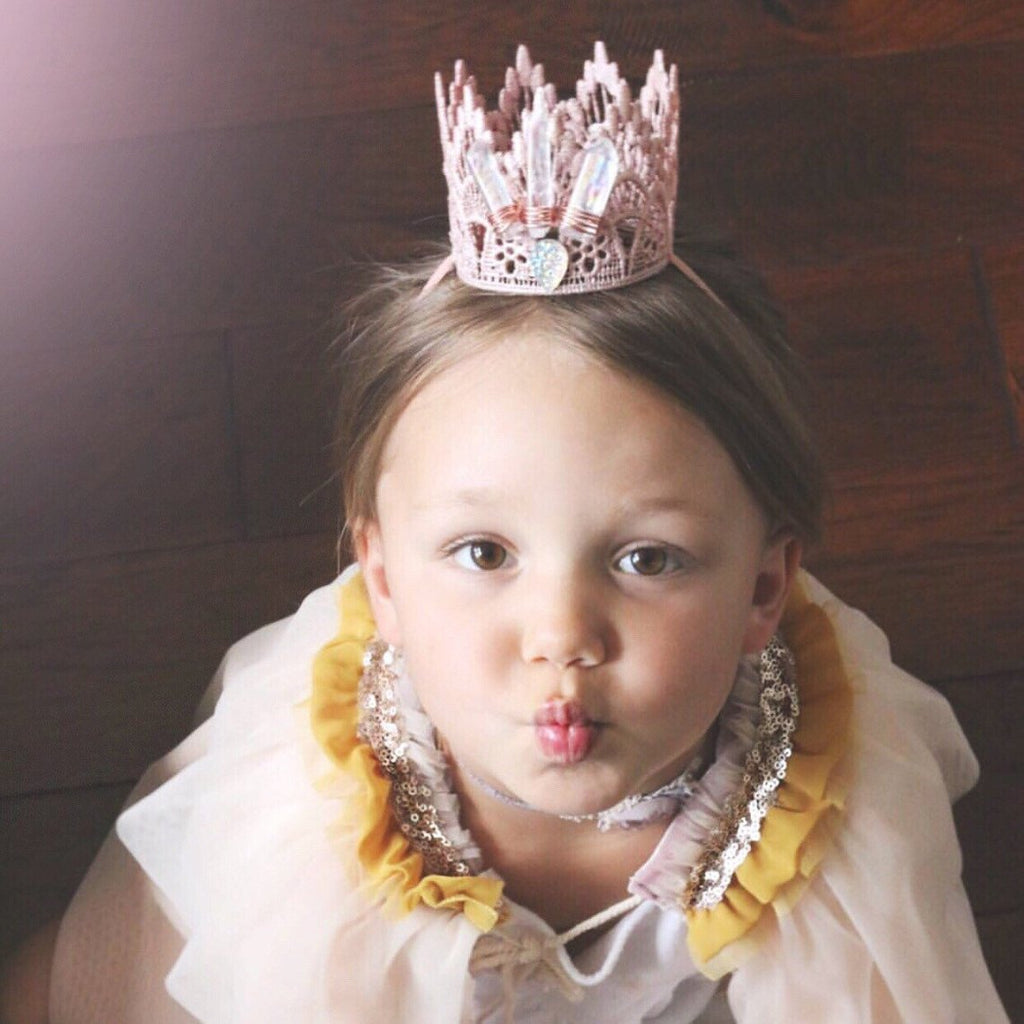 BOHO BLUSH CRYSTAL CROWN, CROWNS - itsmypartykids