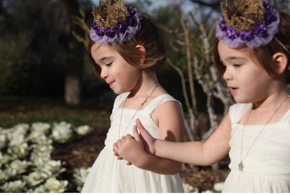 PURPLE MAJESTY FLORAL CROWN, CROWNS - itsmypartykids