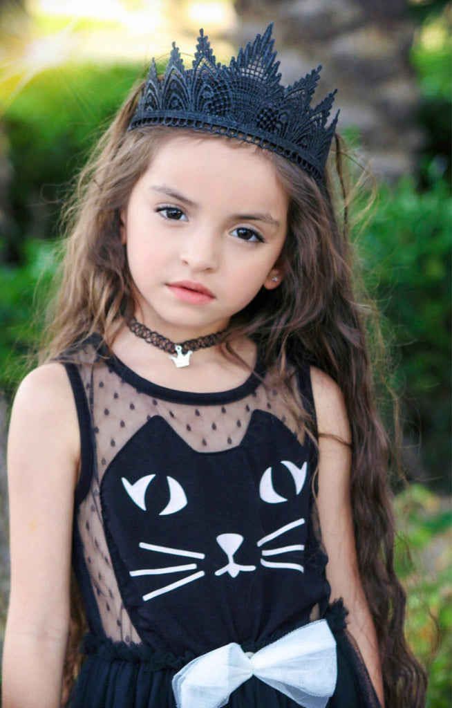 Black Lace Tiara Crown, CROWNS - itsmypartykids