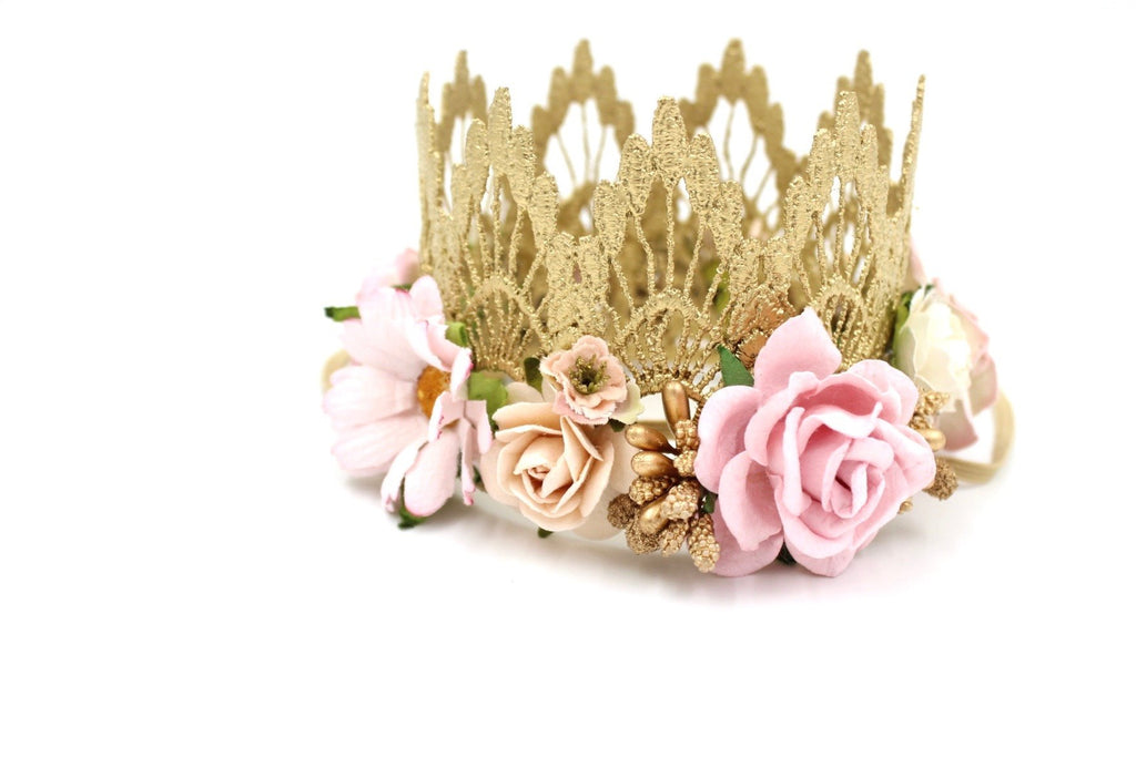 Boho Bloom Lace Mini Crown, CROWNS - itsmypartykids