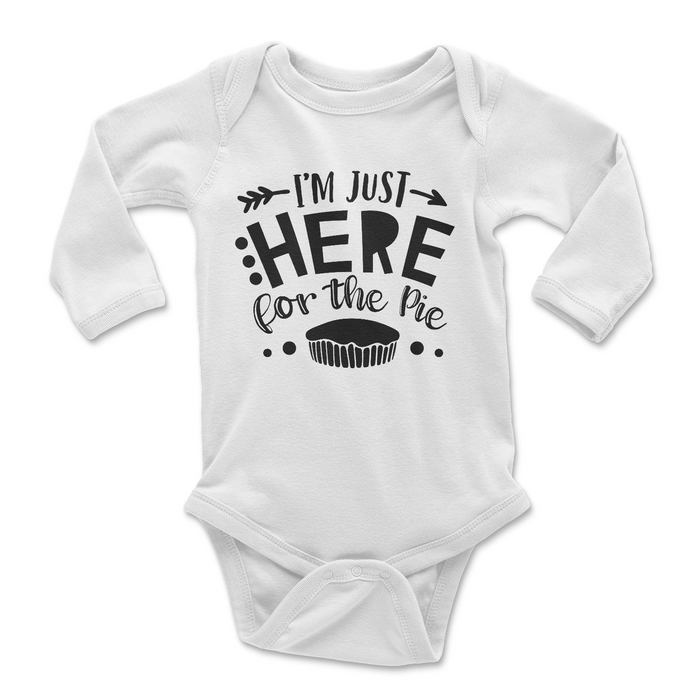 im-just-here-for-the-pie-thanksgiving-thankful-baby-onesie-white-It's My Party Kids Boutique