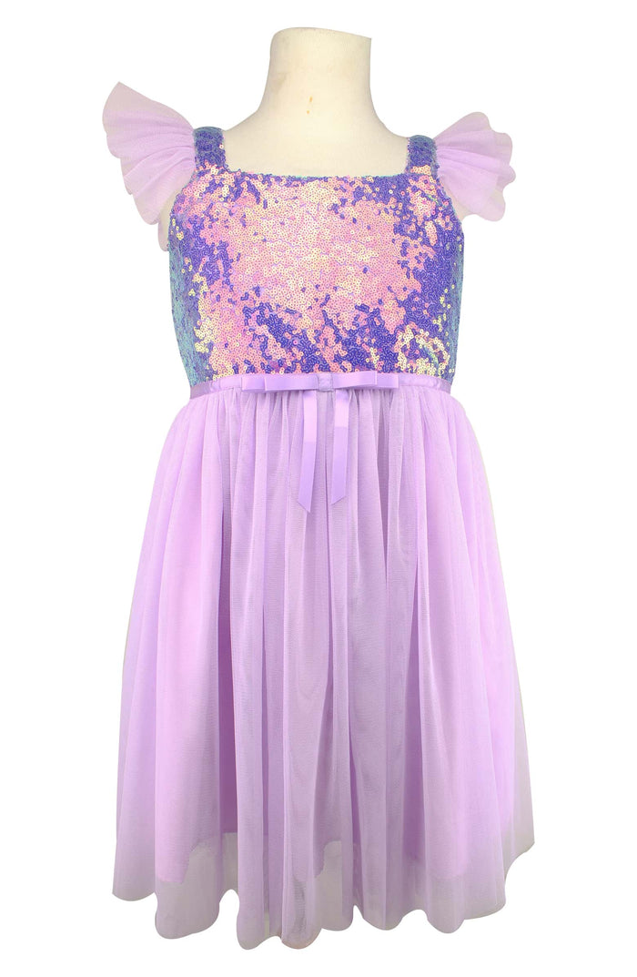 Lilac Sequin and Tulle Dress, Onesie - itsmypartykids