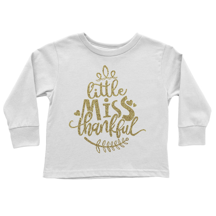 little-miss-thankful-gold-glitter-thanksgiving-long-sleeve-tee-shirt-It's My Party Kids Boutique