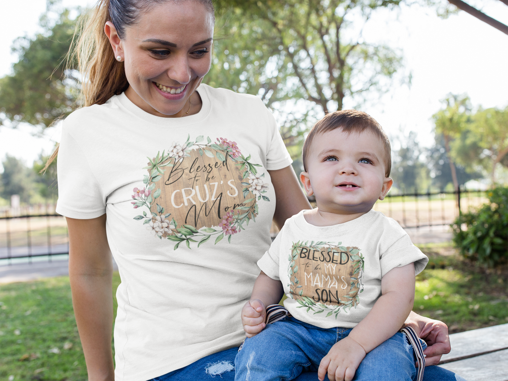 mother-and-son-wearing-matching-mothers-day-tee-shirts-its my party kids boutique