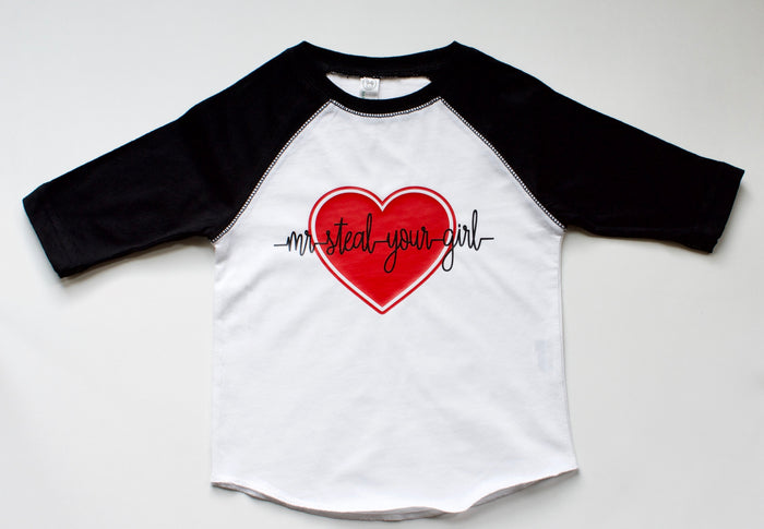 Mr. Steal Your Girl - Raglan Tee, TEES - itsmypartykids