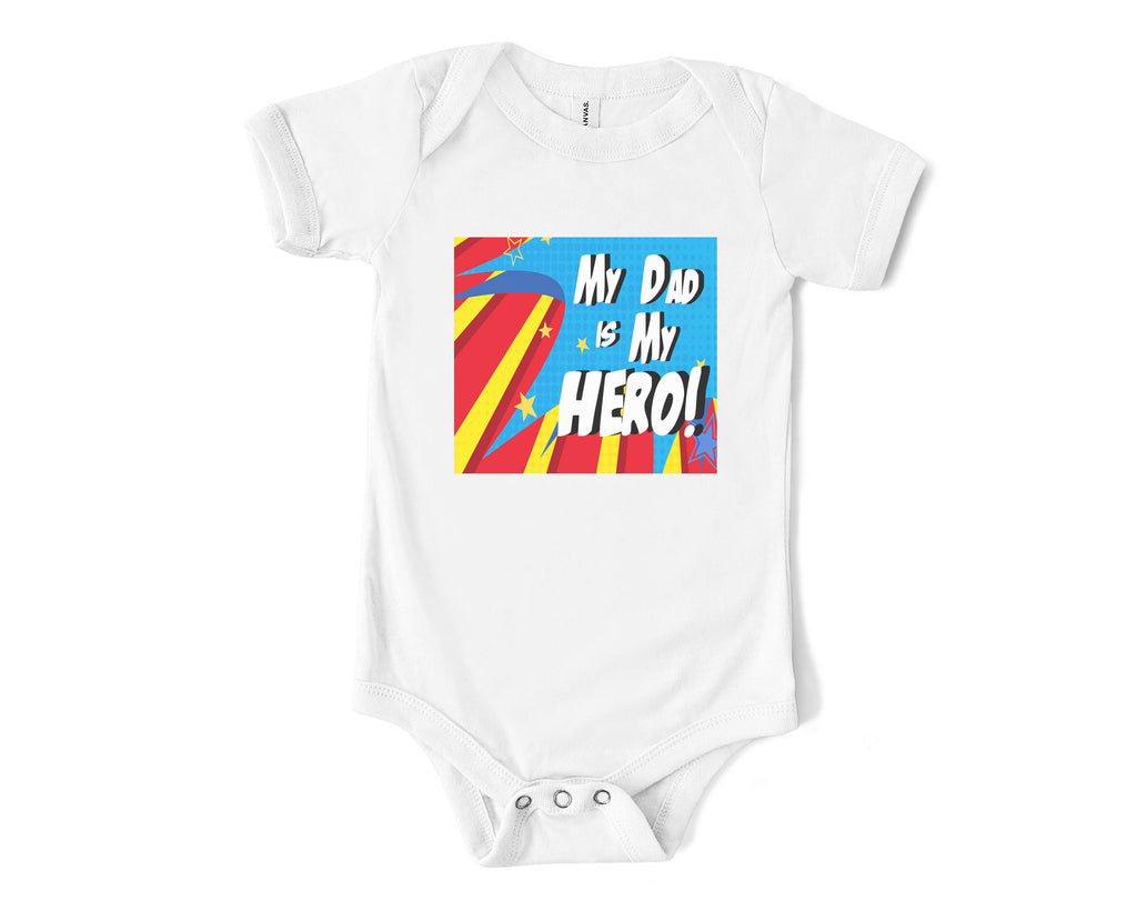 matching-fathers-day-tee-baby-onesie-comic-book-hero-3-its my party kids boutique