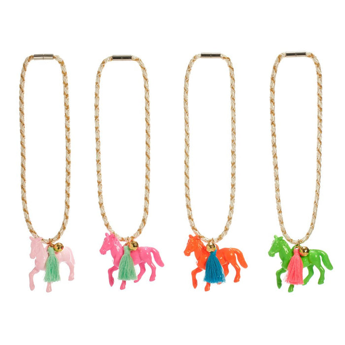 PONY NECKLACE - PINK, ACCESSORIES - itsmypartykids