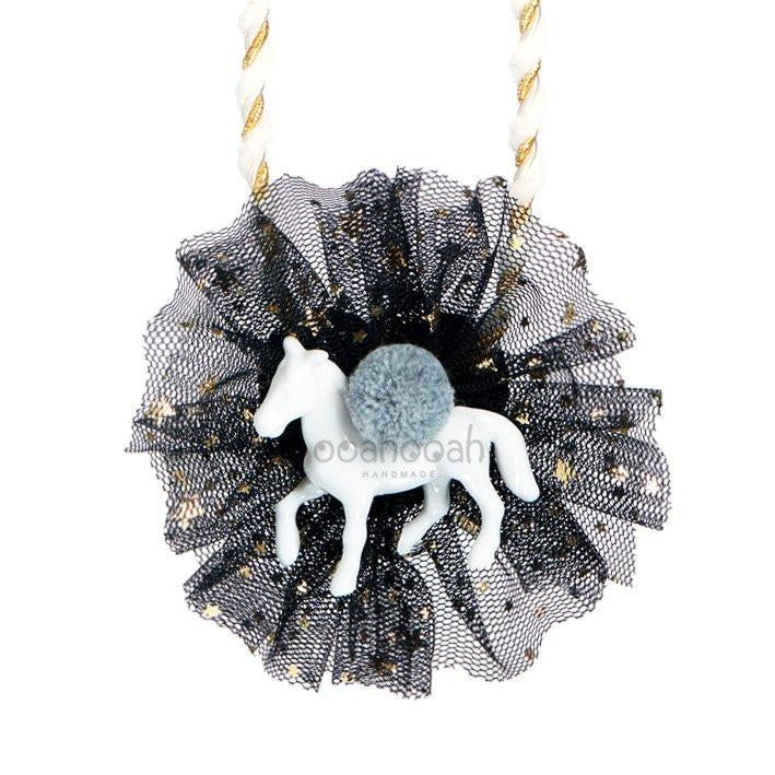 STAR TULLE PONY NECKLACE - BLACK, ACCESSORIES - itsmypartykids