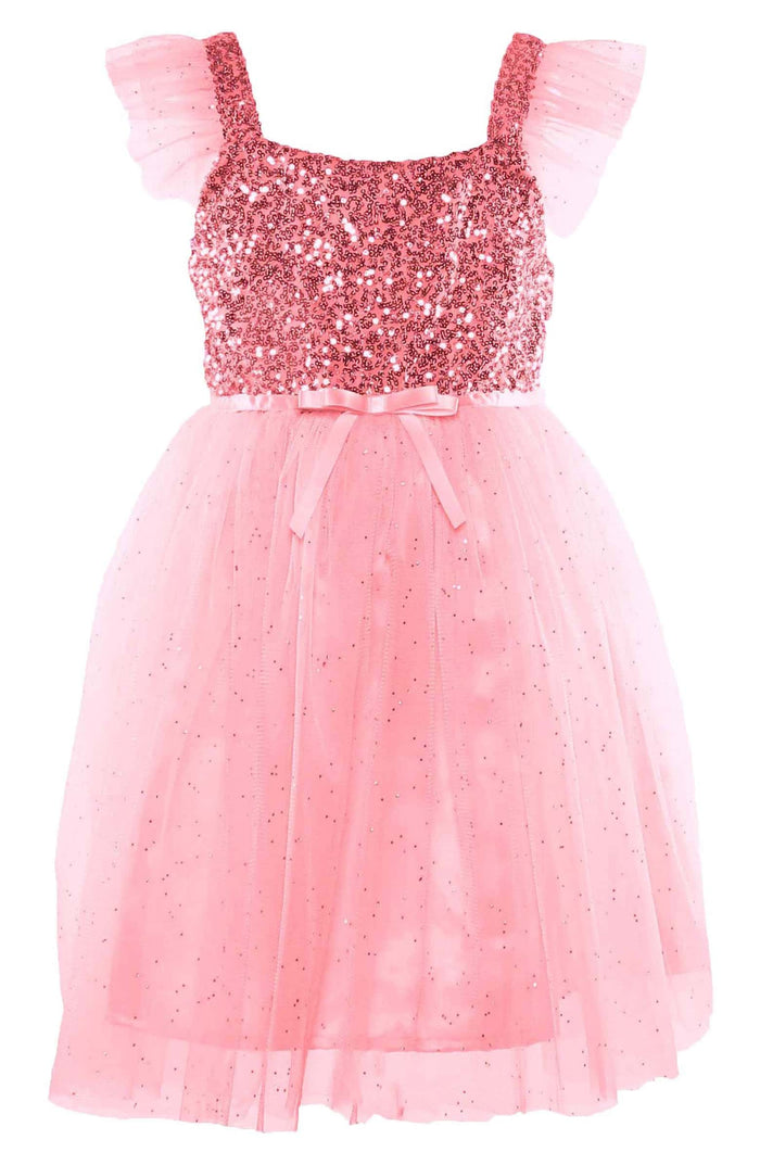 Pink Sequin and Tulle Dress, Onesie - itsmypartykids