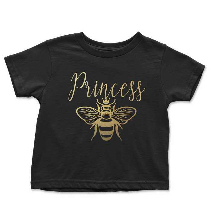 princess-bee-gold-black-mommy-and-me-mothers-day-tee-shirt-its my party kids boutique