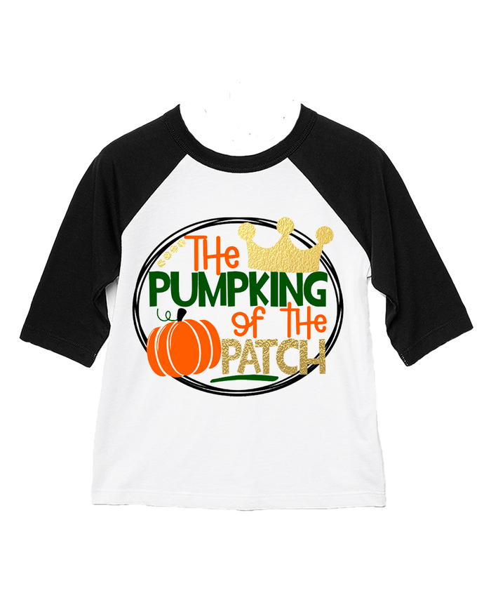 King of the Patch Raglan Tee or Onesie