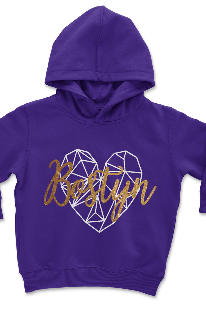 purple-toddler-pullover-hoodie-gold-glitter-heart-personalized-It's My Party Kids Boutique