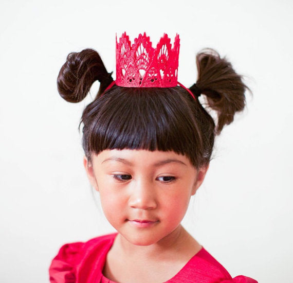Red Princess Mini Crown, CROWNS - itsmypartykids