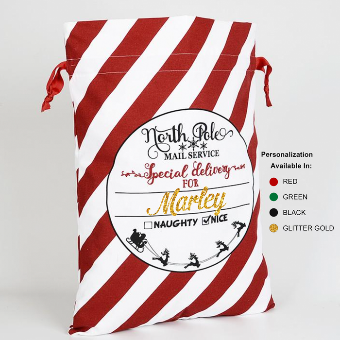 holiday-stripe-santa-sack-canvas-personalized-north-pole-gift-bag-its my party kids boutique