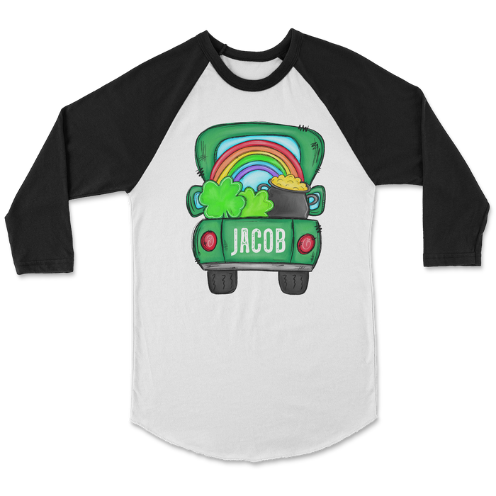 st-patricks-day-rainbow-truck-personalized-kids-raglan-tee-its my party kids boutique