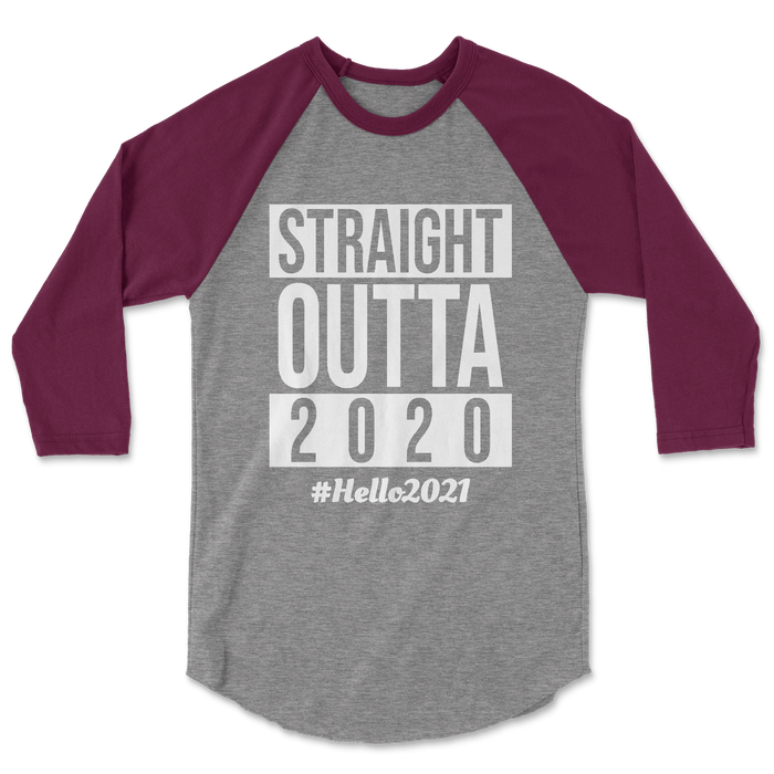 straight-outta-2020-hello-2021-nye-kids-maroon-raglan-tee-shirt-its my party kids boutique
