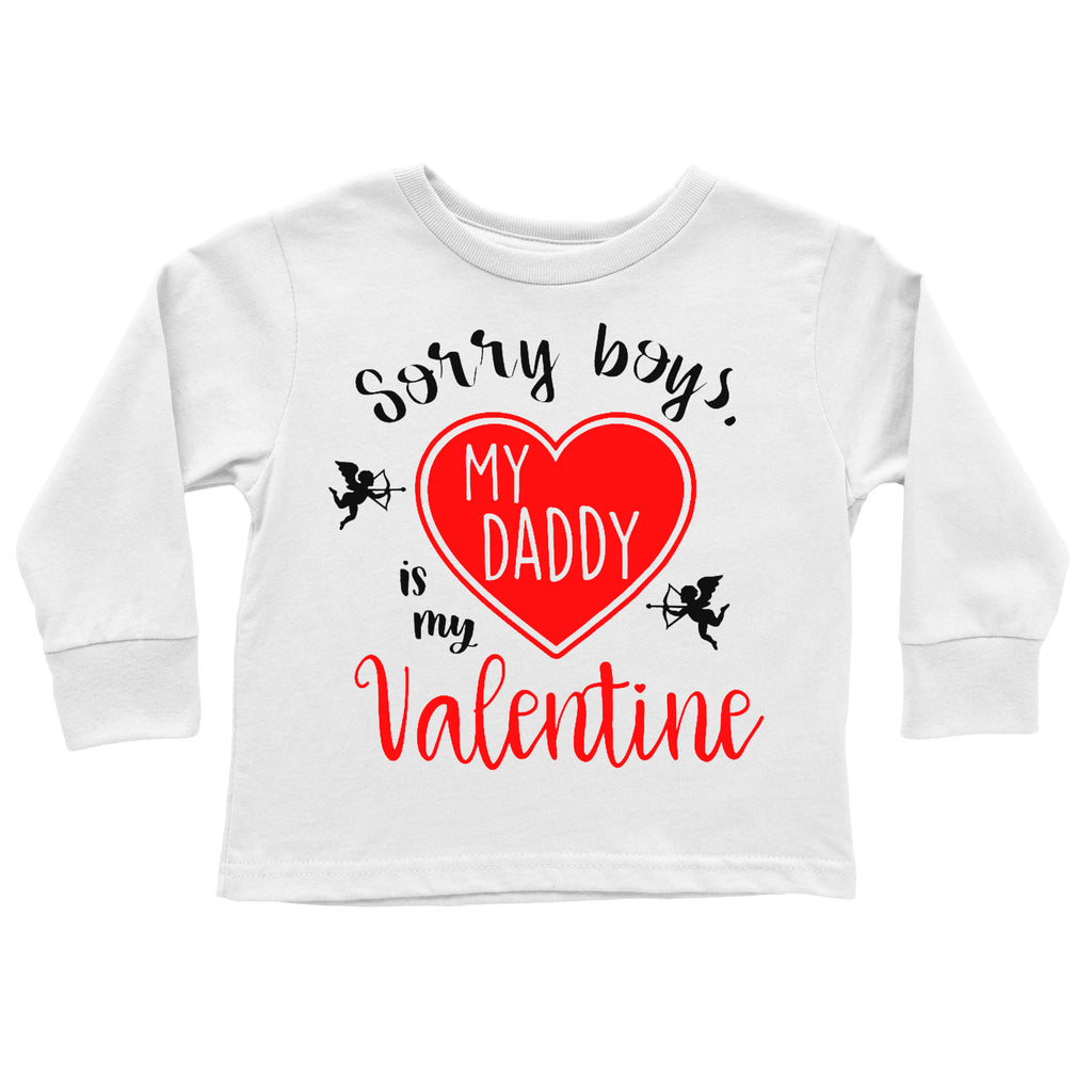 sorry-boys-my-daddy-is-my-valentine-cupid-kids-tee-shirt-2-It's My party Kids Boutique
