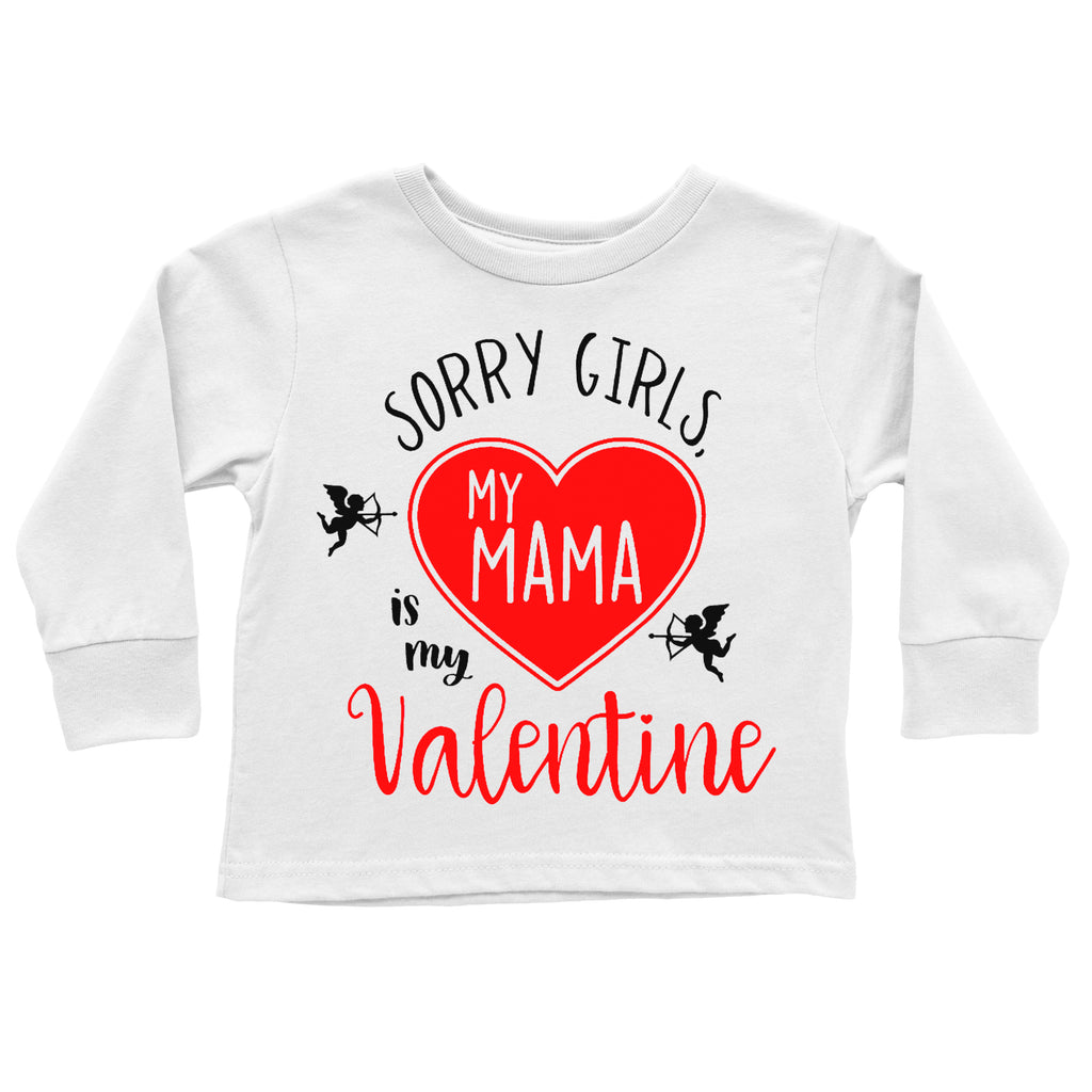 Sorry Girls, My Mama is My Valentine Tee - White, TEES - itsmypartykids