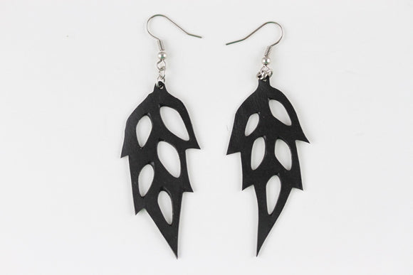 Rubber Frozen Feather Earrings - Reincarnated Art - RE002