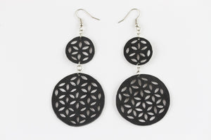Rubber Unified World Earrings - Reincarnated Art - RE004