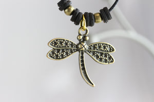 Dragonfly Brass Necklace
