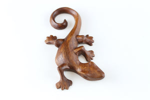 Wood Carved Lizard