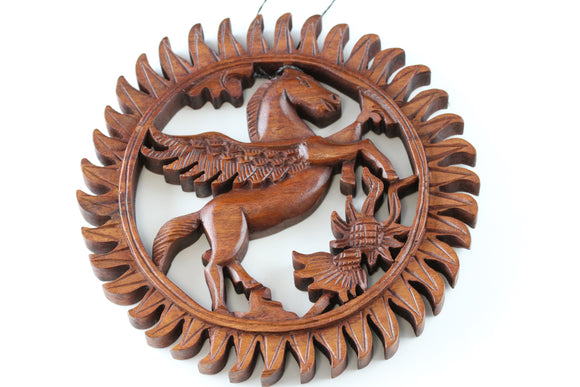 Pegasus Wall Carving