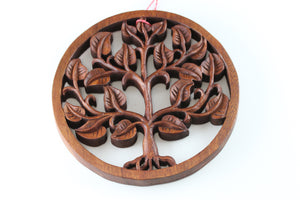 Wood Carved Tree of Life- 8''